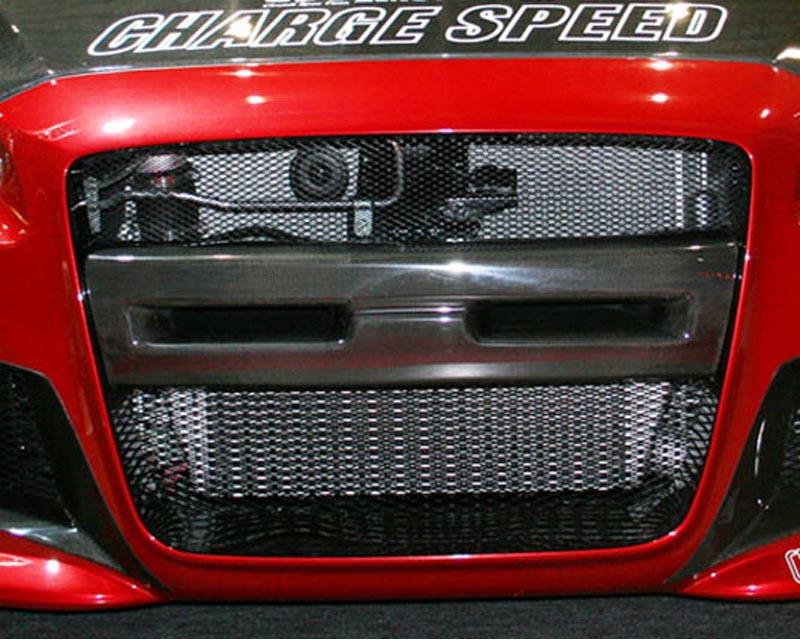 ChargeSpeed Type I Front Bumper Center Carbon Garnish Mitsubishi EVO X 09-10 - CS427BCGCS