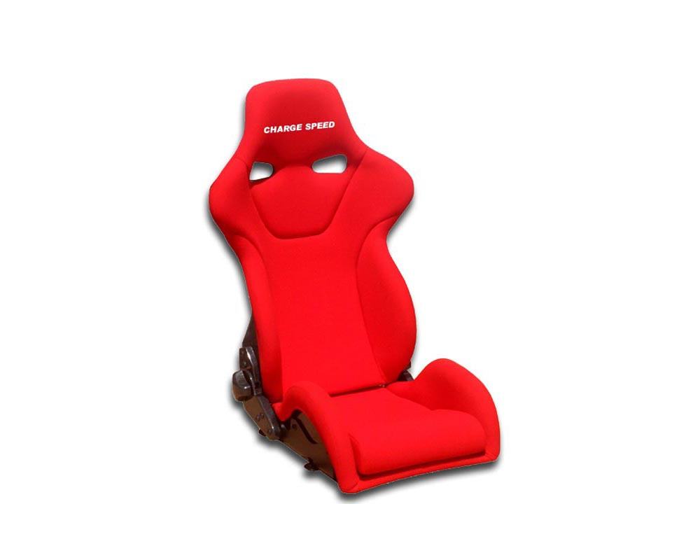 Charge Speed Racing Seat Genoa R Reclined FRP Red (Japanese FRP) - BC-GRF02