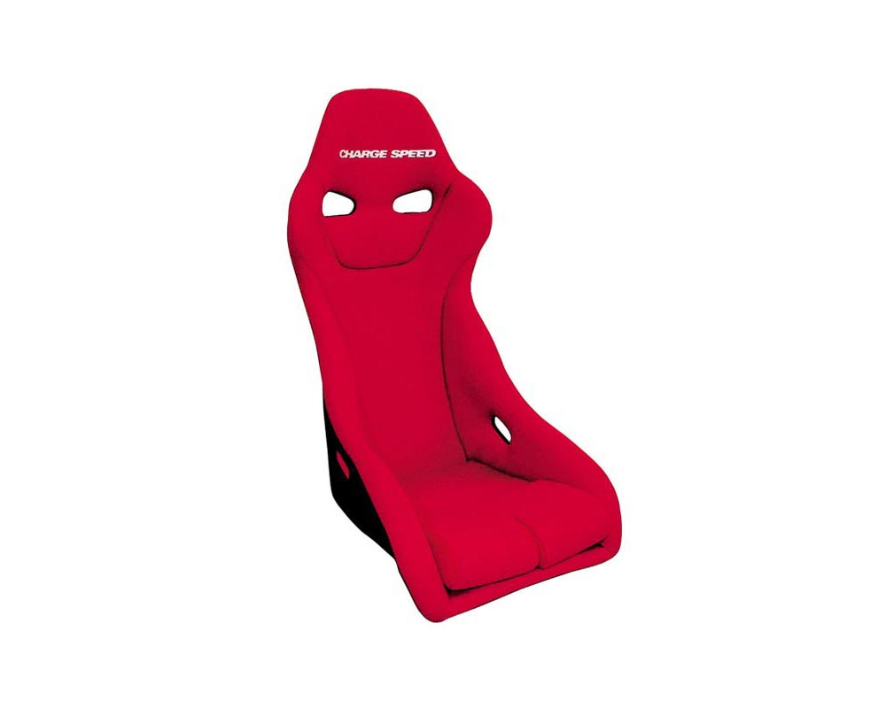 Charge Speed Racing Seat Genoa S Type FRP Red (Japanese FRP) - BC-GSF02