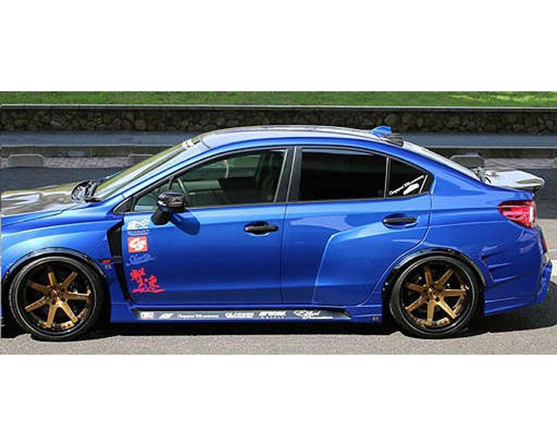 Charge Speed Type 2a Complete Wide Body Kit With Front Carbon Under Part Japanese Cfrp Frp Subaru Wrx Sti 15 19 Bcsi15 Cs9735fk2acw