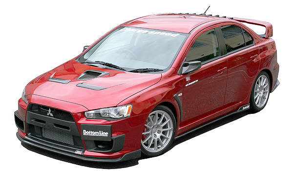 ChargeSpeed Bottom Line Type 2 Carbon Body Kit Mitsubishi EVO X 08-12 - CS427FLK2C