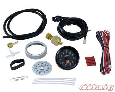 AEM Electronics 35PSI BOOST SAE GAUGE, 2-in-1 - 30-5132