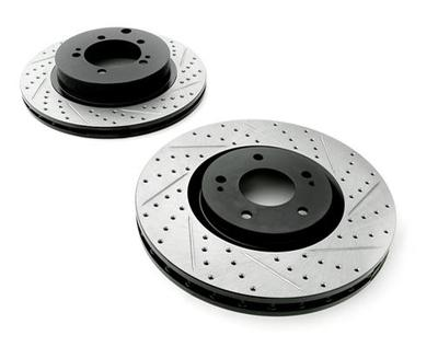 Rotora Rear Left and Right Drilled & Slotted Rotor Dodge Viper SRT10 03-06