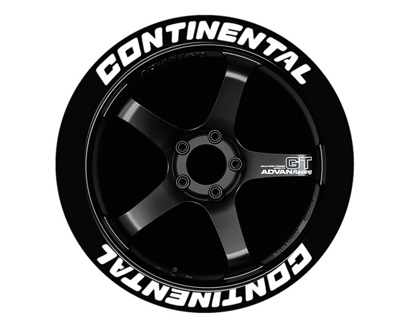 Tire Stickers Permanent Raised Rubber Lettering 'Continental - TS-CONTINENTAL-RR
