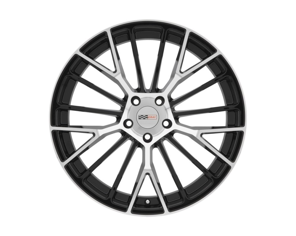Cray Astoria Gloss Black w/ Mirror Cut Face Wheel 18x9 5x120.65|5x4.75 50mm CB70.3 - 1890CRT505121B70
