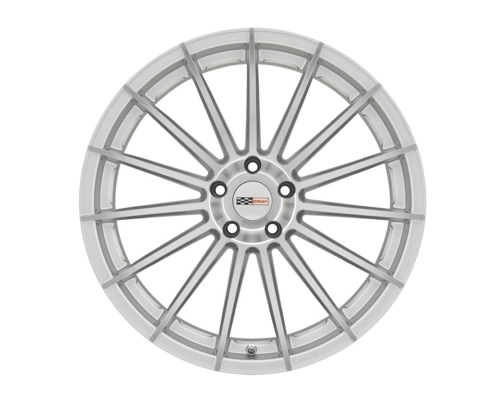 Cray Mako Wheel 20x10.5 5x120.65|5x4.75 65mm Silver w/ Mirror Cut Face - 2005CRM655121S70