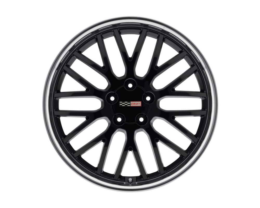 Cray Manta Wheel 17x9 5x120.65|5x4.75 50mm Gloss Black w/ Mirror Cut Lip - 1790CMA505121B70