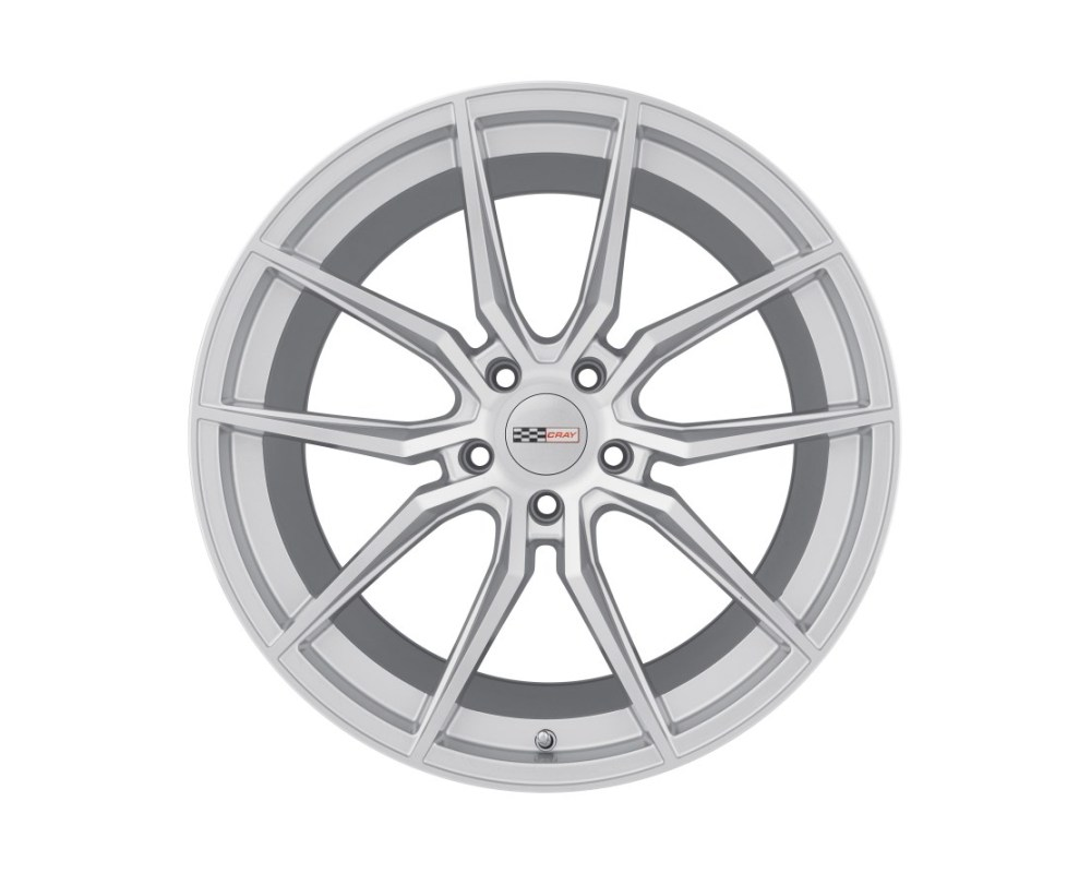 Cray Spider Wheel 19x10 5x120.65|5x4.75 37mm Silver w/ Mirror Cut Face - 1910CRD375121S70
