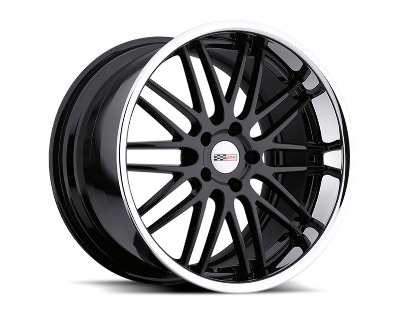 Cray Hawk Gloss Black with Chrome Stainless Lip Wheel 19x10.5 5x120.65 65mm - CR-1905CRH655121B70