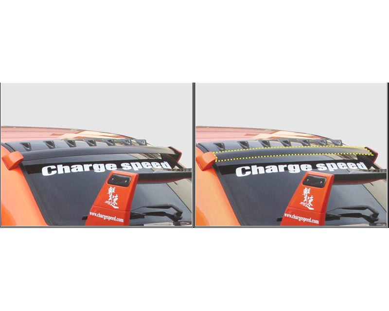 ChargeSpeed Carbon OEM Style Roof Vane Subaru WRX STI 02-07 - CS978RVOC