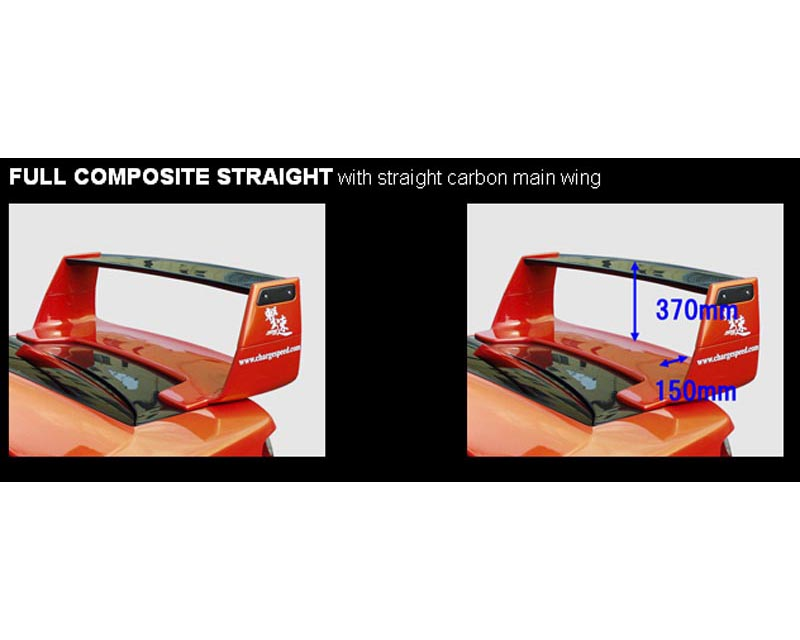 ChargeSpeed Full Composite Wing with Straight Top Subaru WRX STI 02-07 - CS978CW3