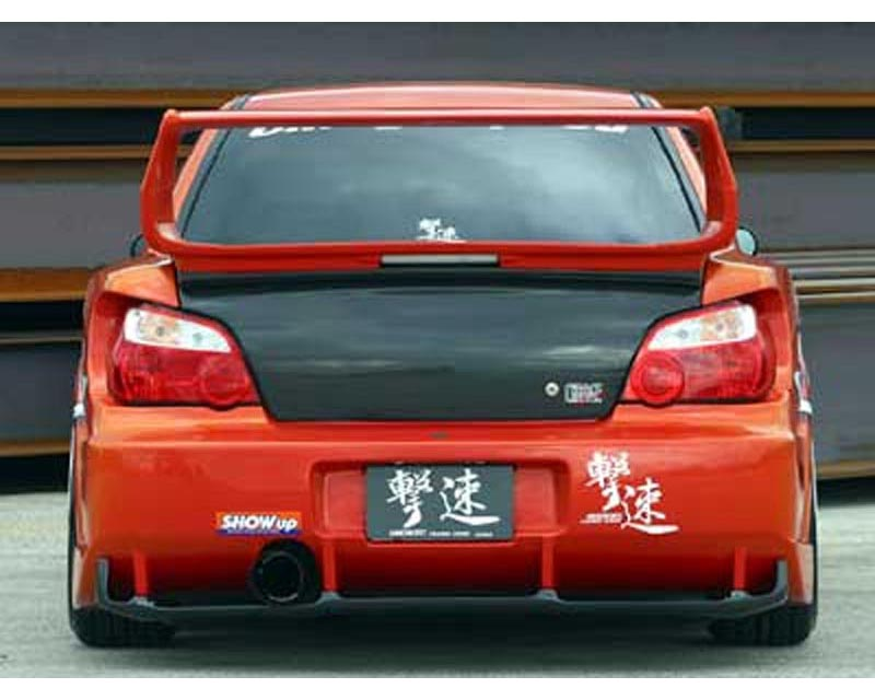 ChargeSpeed D-1 Wide Body Rear Bumper with Carbon Diffuser Subaru WRX GDA 02-03 - CS978RBW