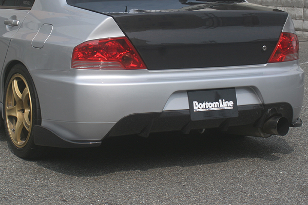 ChargeSpeed Bottom Line Carbon Rear Lip Caps Mitsubishi EVO VII VIII 02-05