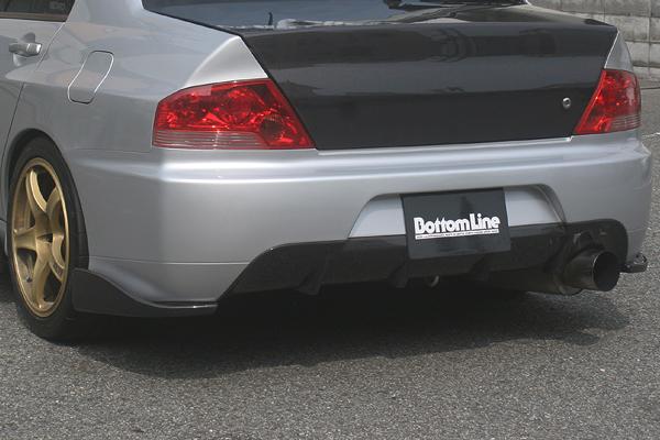 ChargeSpeed Bottom Line Carbon Rear Lip Caps Mitsubishi EVO IX 06-08 - CS425RCC