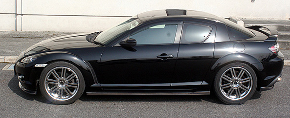 ChargeSpeed Bottom Line FRP Side Skirts Mazda RX-8 03-08 - CS716SSF