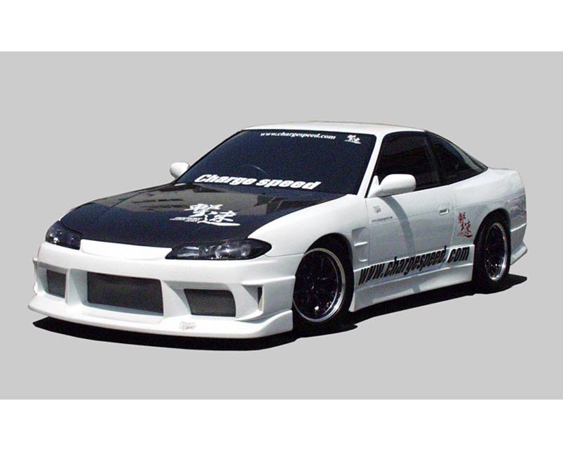 ChargeSpeed S15 Conversion Full Body Kit & Carbon Vented Hood Nissan 240SX S13 Coupe 89-94 - CS7073FK4