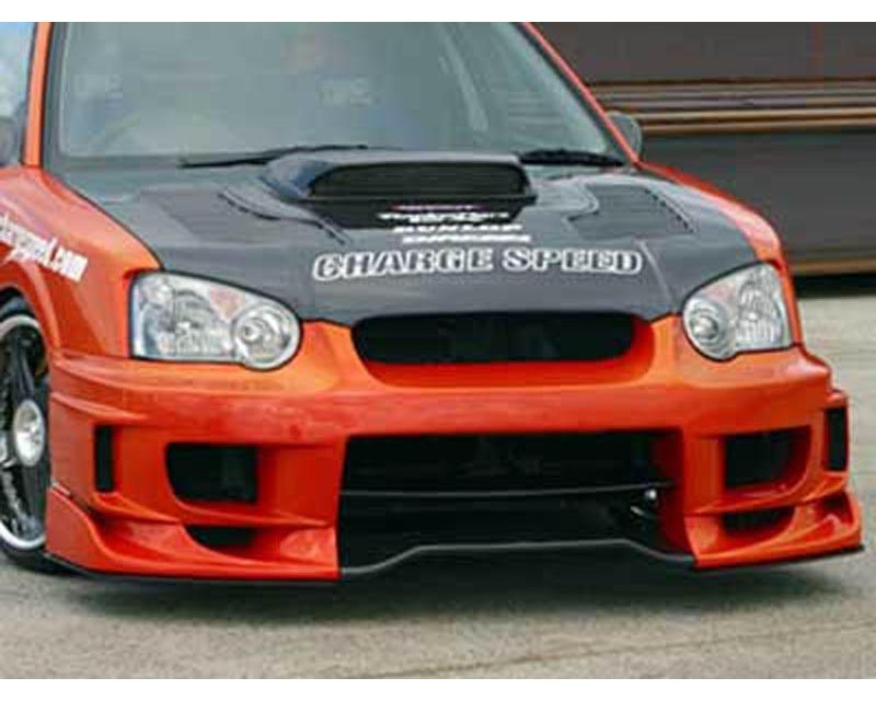 ChargeSpeed Wide Body Front Bumper with 3D Carbon Center Subaru WRX STI 02-05 - CS977FBDW