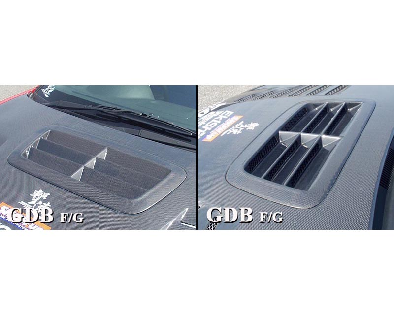 ChargeSpeed Carbon Outlet Style Hood Duct Subaru WRX STI GD-F 06-07 - CS975HDOC