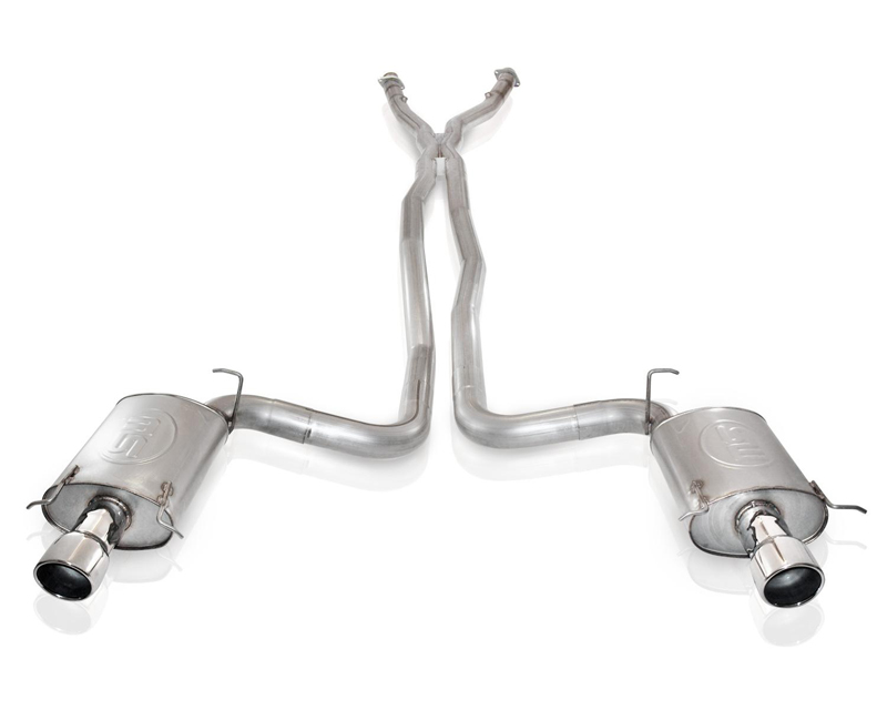 Stainless Works Exhaust with X-Pipe & Cats for OEM Headers Cadillac CTS-V 04-07 - CTSVEX