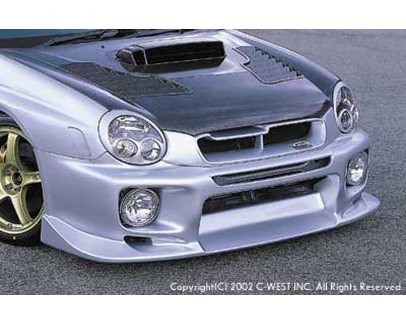 C-West Front Bumper with fog holes Subaru WRX 02-03