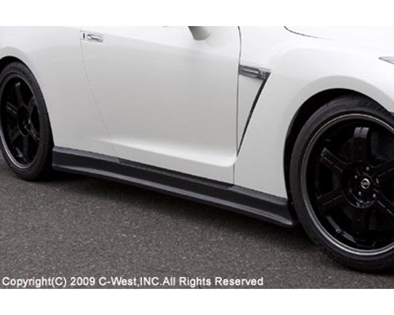 C-West Carbon Fiber Side Skirts Nissan GT-R R35 09-18 - CR3501A-SSCF