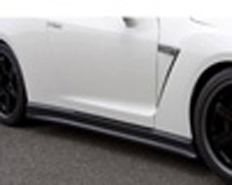 Image of C-West Carbon Fiber Side Skirts Nissan R35 GT-R 09