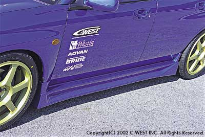 C-West Side Skirts Subaru WRX/STI 02-06