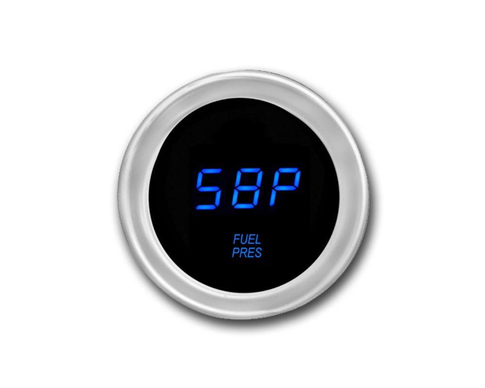 Cyberdyne Blue Ice Fuel Pressure Gauge 0-16 PSI - A012E351Y