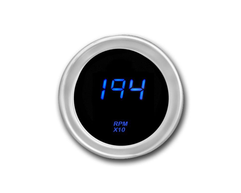 Cyberdyne Blue Ice Mini Tachometer 2 Cylinder