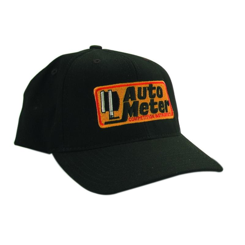 AutoMeter HAT; SNAP FIT ADJUSTABLE; BLACK; EMBROIDERED; COMPETITION - 0436