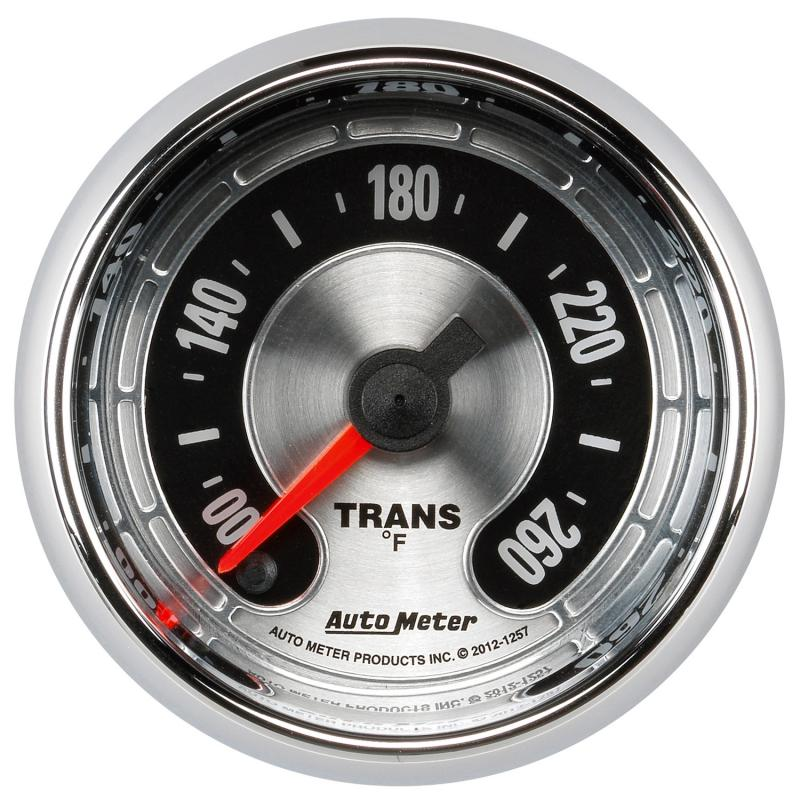 AutoMeter GAUGE; TRANS TEMP; 2 1/16in. 260deg.F; DIGITAL STEPPER MOTOR; AMERICAN MUSCLE - 1257