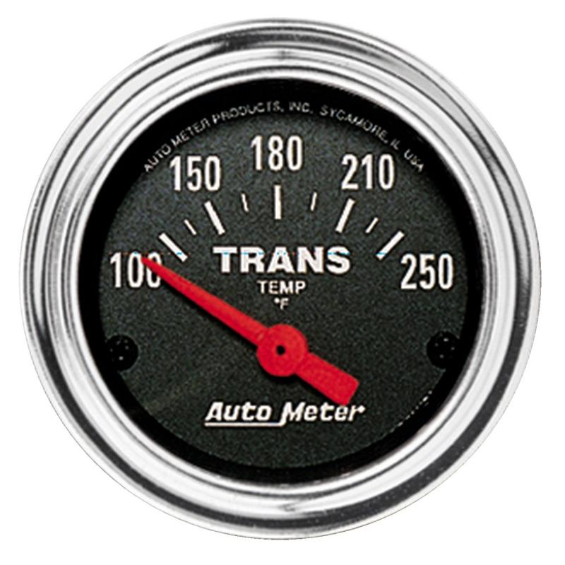AutoMeter GAUGE; TRANS TEMP; 2 1/16in.; 100-250deg.F; ELECTRIC; TRADITIONAL CHROME - 2552