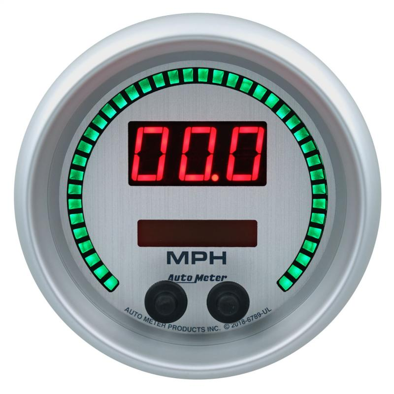 AutoMeter GAUGE; SPEEDO; 3 3/8in.; 260MPH/260KM/H; ELEC PROGRAM; ULTRA-LITE ELITE DIGITAL - 6789-UL
