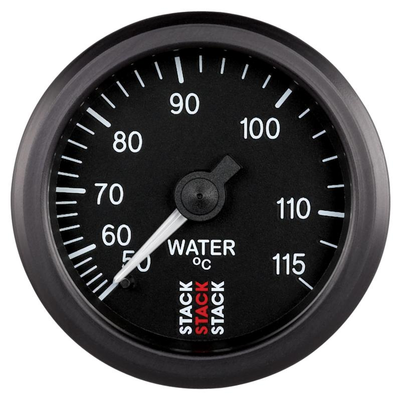 AutoMeter GAUGE; WATER TEMP; MECHANICAL; 52MM; BLACK; 50-115deg.C; 3/8in. BSPT (M) - ST3107