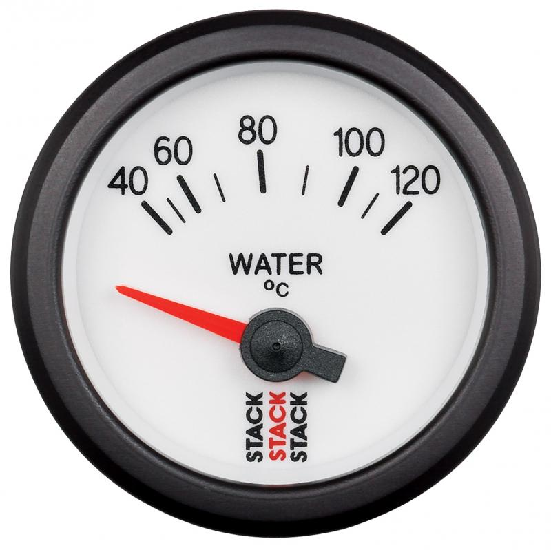 AutoMeter GAUGE; WATER TEMP; ELECTRIC; 52MM; WHT; 40-120deg.C; M10 MALE - ST3257