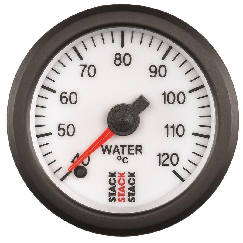 AutoMeter GAUGE; WATER TEMP; PRO STEPPER MOTOR; 52MM; WHT; 40-120deg.C; 1/8in. NPTF MALE - ST3357
