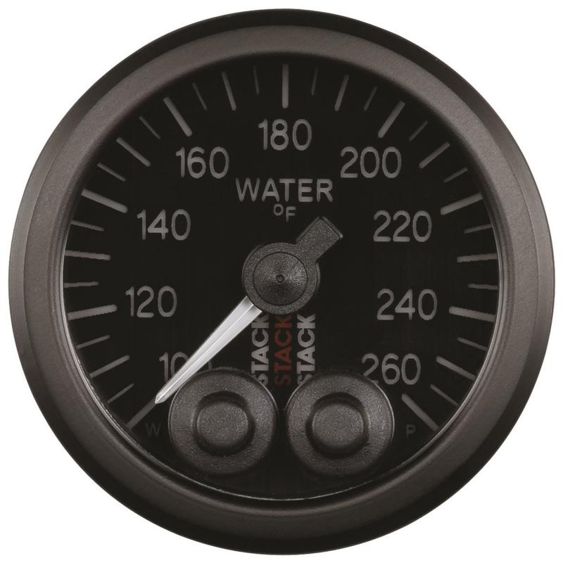 AutoMeter GAUGE; WATER TEMP; PRO-CONTROL; 52MM; BLK; 100-260deg.F; 1/8in. NPTF MALE - ST3508