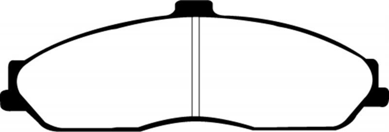 EBC Brakes EBC YELLOWSTUFF PADS Front - DP41162R