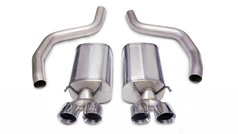Corsa Performance 3.0in. Axle-Back; Dual Rear Exit with Twin 4.0in. Polished Pro-Series Tips Chevrolet - 14164