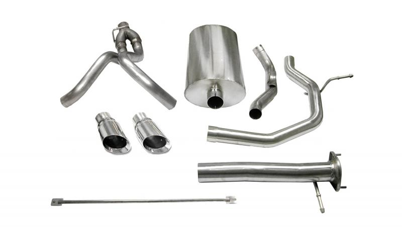 "Corsa Performance 3.0"" Catback Exhaust Dual Rear Exit with Single 4.0"" Polished Pro-Series Tips Chevrolet SSR 2003-2006 - 14254"