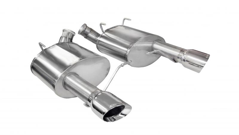 "Corsa Performance 3.0"" Axleback Exhaust Dual Rear Exit with Single 4.0"" Polished Pro-Series Tips Ford Mustang Boss 302 