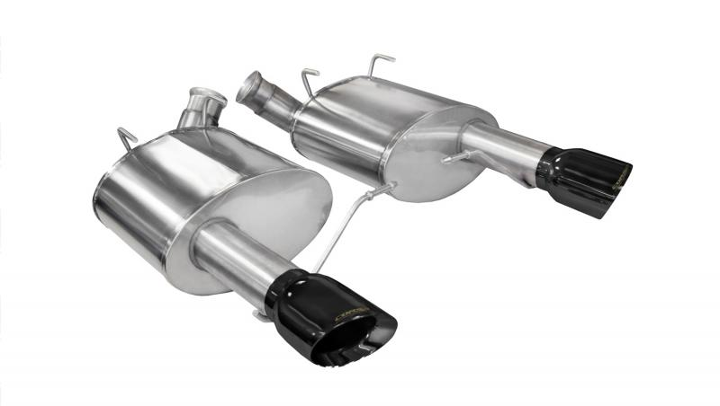 """CORSA Performance 3.0"""" Axleback Exhaust Dual Rear Exit with Single 4.0"""" Black PVD Pro-Series Tips Ford Mustang Boss 302   Gt 2011-2014 - 14317BLK"""