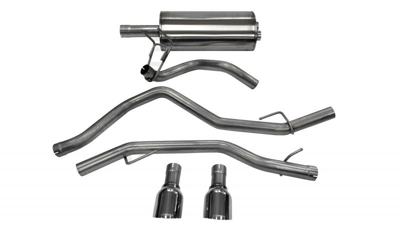 """Corsa Performance 3.0"""" Catback Exhaust Dual Rear Exit with Single 4.5"""" Polished Pro-Series Tips Ram 1500 2009-2019 - 14405"""