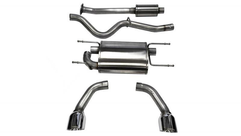 """Corsa Performance 2.5"""" Catback Exhaust Dual Rear Exit with Single 4.5"""" Polished Pro-Series Tips Scion FRS 
