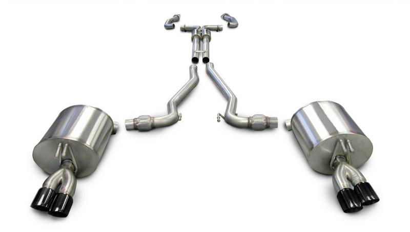 """Corsa Performance 2.5"""" Catback Exhaust Dual Rear Exit with Twin 3.0"""" Black PVD Pro-Series Tips Pontiac G8 GT 