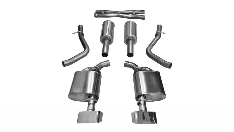 """Corsa Performance 2.5"""" Catback Exhaust Dual Rear Exit with GTX2 Polished Tips Dodge Challenger R/T 2015-2016 - 14975"""