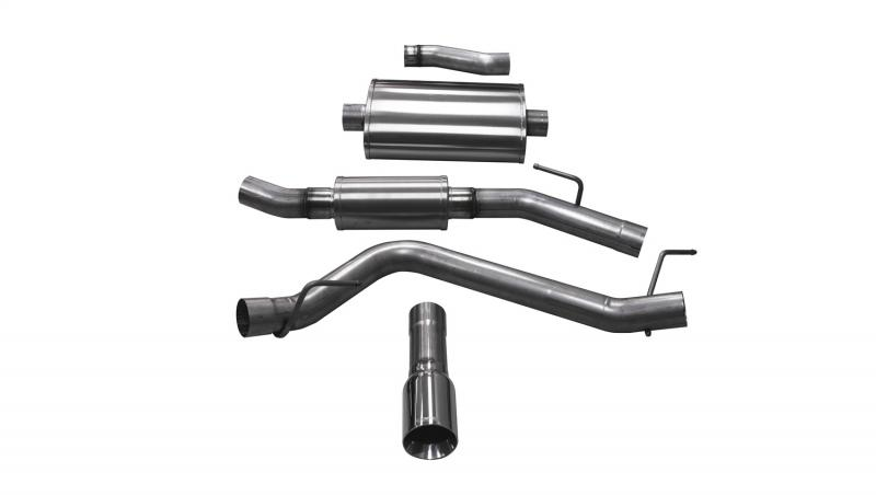 """CORSA Performance 3.0"""" Catback Exhaust Single Side Exit with 4.0"""" Polished Tip Jeep Gladiator JT 2020-2020 - 21062"""
