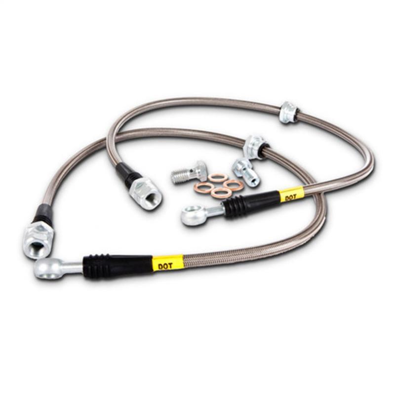 STOPTECH STAINLESS STEEL FRONT REAR BRAKE LINES FOR 10-13 CHEVROLET CAMARO V6
