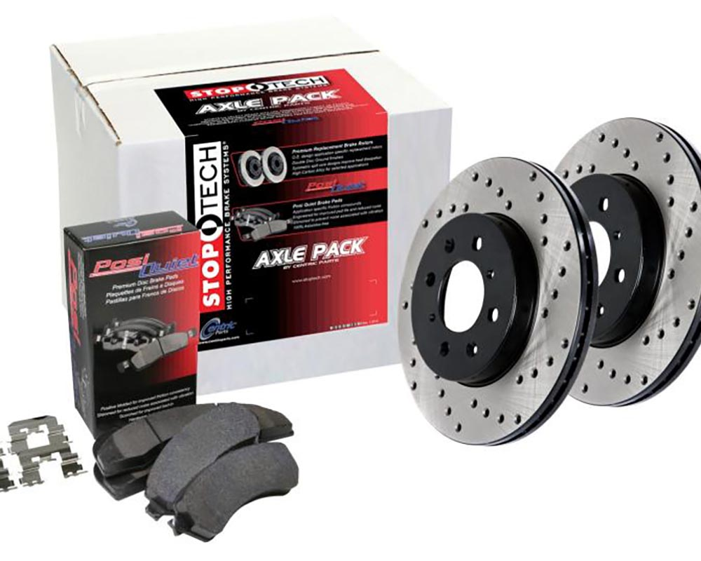 Rear Stoptech 939.33540 Street Axle Pack Drilled