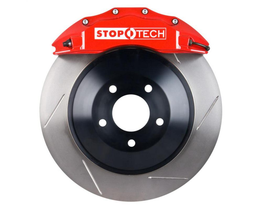 StopTech Big Brake Kit; Red Caliper; Slotted One-Piece Rotor; Front Front - 82.243.6100.71